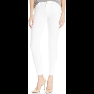 7 For All Mankind White Ankle  Guinevere Jeans